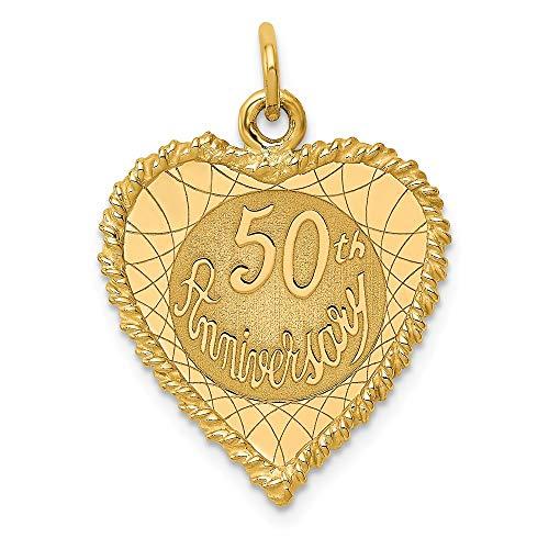 Gold 50th Anniversary Charm - 7