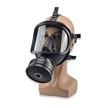 Máscara De Gas Protección Facial Completa Pesticida Formaldehído Gas Tóxico Antivirus Filtro De Carbón Activado Respirador