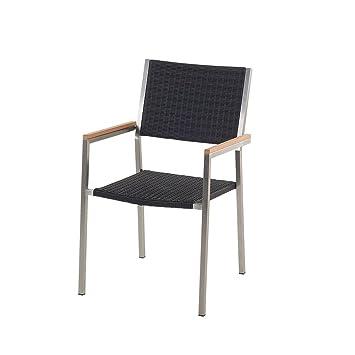 GroBartig Designer Rattan Gartenstuhl   Edelstahl   Polyrattan   Sessel   Gartenmöbel    Rattanstuhl   GROSSETO