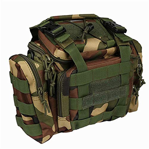 Fishing Bag Lure Bag Fishing Tackle Bag Backpack Waist Pack Bag 301820Cm with Shoulder Strap Army camo by Purpume