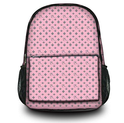 Luxburg® Design Rucksack Multifunktionsrucksack Ranzen Schulranzen Sporttasche Backpack LX Muster pink / grau