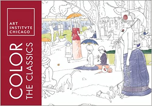 Color The Classics Art Institute Of Chicago Adult Coloring Books 0760789263347 Amazon