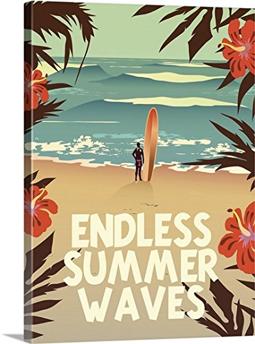 Endless Summer Waves - awesome summer wall art - Summertime wall art