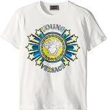 Versace Kids Boy's Short Sleeve Medusa Logo Graphic Tee (Big Kids) White 8