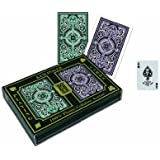 KEM Arrow Green and Brown Bridge Size Standard Index Playing Cards