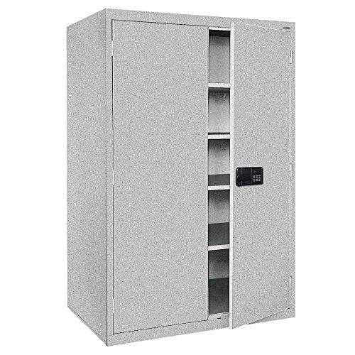 (Sandusky Lee EA4E462478-MG Elite Series Keyless Electronic Welded Storage Cabinet, 46
