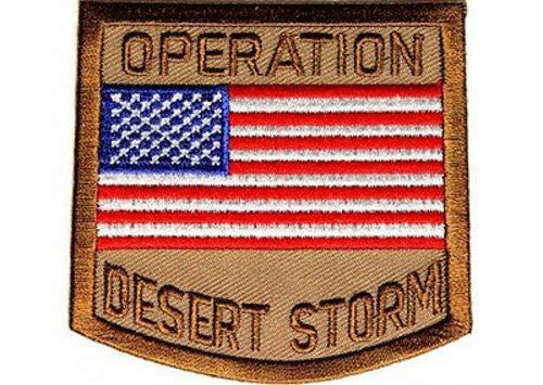 OPERATION Desert Storm Military VET POW USA FLAG MC Biker Vest Patch PAT-2836 Desert Storm Vet Patch