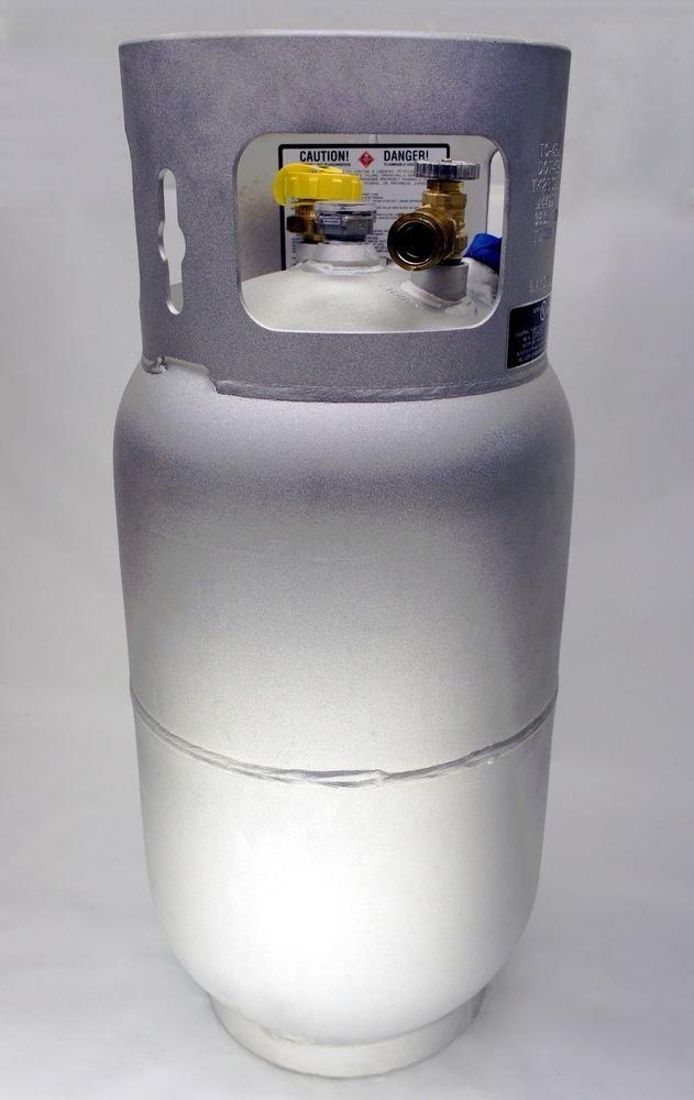 Manchester Aluminum Propane Tank 33.5 Lb 8 Gallon Forklift Fork Horizontal Vertical New Lpg