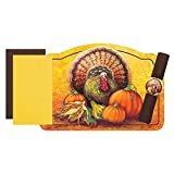 Thanksgiving Turkey Paper Placemats with Napkins -9.75x14in. (30)