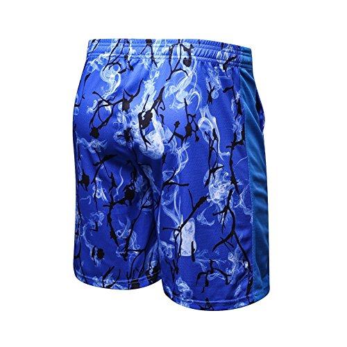 Yiitay Uomo Asciugatura Rapida Sportivi Fitness Pantaloncini(Blu,S)