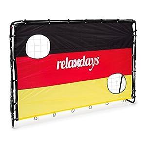 Relaxdays Fußballtor mit Torwand Deutschland HBT 150 x 210 x 75 cm...
