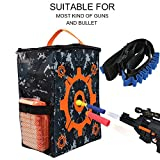 nerf bullet carrying bag - Target Practice Bag Pouch Storage Equipment Carrying Bag with Bullet Strap Series Children Toy Gun Accessories for Nerf N-strike Elite / Mega / Rival Series