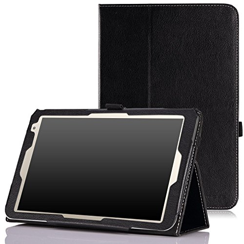 MoKo TOSHIBA Encore 2 WT8-B32CN / B64CN Case - Slim Folding Cover Case for TOSHIBA Encore WT8-B32CN / B64CN 8 Inch Windows 8.1 Tablet, BLACK (Moko Toshiba Encore 2 Case)