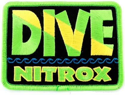 NITROX DIVER EMBROIDERED SCUBA TANK PATCH DIVING EMBLEM IRON-ON ENRICHED AIR new