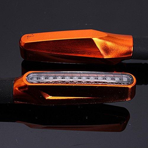 Alamor 4Pcs Orange Moto Led Clignotant Clignoteur Lumi/ère Ambre