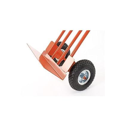 Gierre GE040 Carretilla de mano de acero, ruedas neumáticas y pala abatible (250 kg