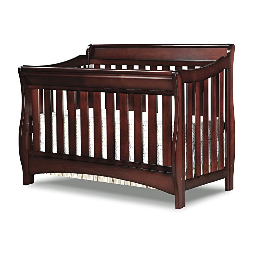 Delta Children Bentley S Series 4-in-1 Convertible Baby Crib, Black Cherry ()