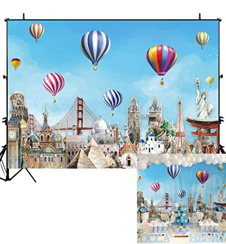 Globe Banner - Allenjoy Adventure Awaits Travel Backdrop Hot