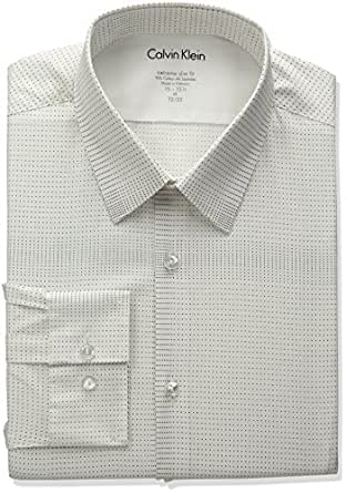 Calvin klein men 39 s stretch xtreme slim fit dot print point for Calvin klein slim fit stretch shirt