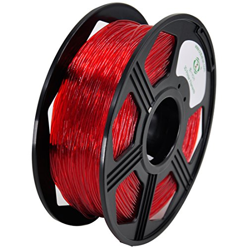 YOYI Flexible TPU Filament 1.75mm Flexible TPU 3D Printer Filament 0.8KG, Diameter Tolerance +/- 0.03 mm, 0.8KG Spool, 1.75 mm TPU Filament (Red) by YOYI