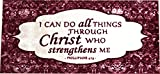 Dean Washable Non-Skid ''Philippians 4:13'' Christian Faith Bible Based Carpet Runner Mat/Rug 20'' x 44'' Color: Cranberry