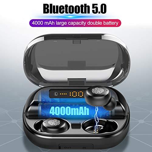 RONSHIN Bluetooth Earphones-9D Stereo Earphone Wireless Earphones Waterproof Sport Headphone Phone Accessories B by RONSHIN