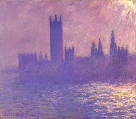 (The High Quality Polyster Canvas Of Oil Painting 'House Of Parliament, Sunlight Effect, 1903 By Claude Monet' ,size: 8x9 Inch / 20x23 Cm ,this Best Price Art Decorative Canvas Prints Is Fit For Bar Decor And Home Gallery Art And Gifts)