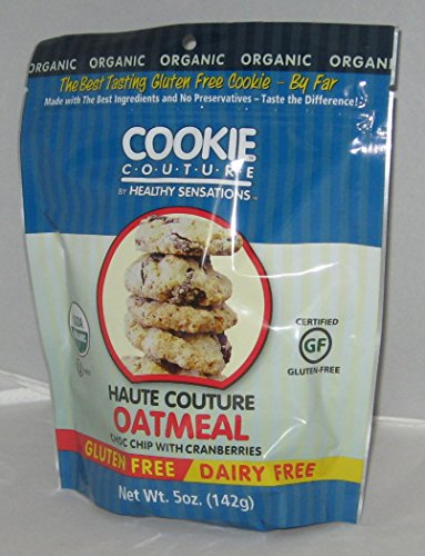 COOKIE COUTURE BY HEALTHY SENSATIONS 3-5oz BAGS GLUTEN & DAIRY FREE (HAUTE OATMEAL CHOC CHIP & CRANBERRIES)ORGANIC