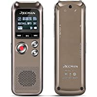 TNP Digital Voice Recorder - Audio Sound Recording Dictaphone Built-in Condenser Stereo Microphones & Speaker with 8GB Memory Mini Portable Sound, Meeting, Interview, Classroom, Lecture, MP3 Player