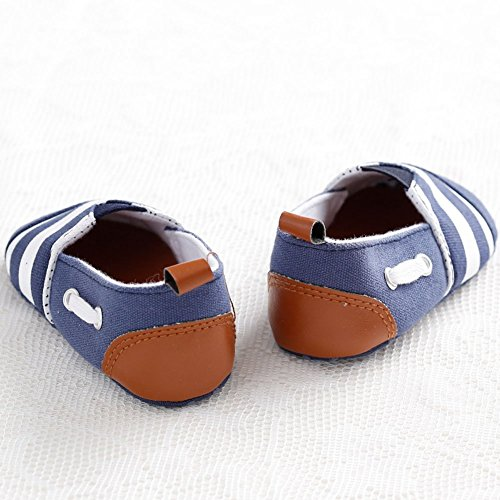 etrack-online bebé niños rayas suave única prewalker Infant Toddler Zapatillas zapatos As the picture Talla:12-18month As the picture