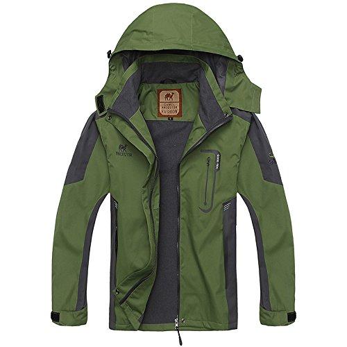 Green GITVIENAR Top Coat Jacket Outdoor Women's Full Mountain Sports Waterproof Zip Softshell Hood Windproof wwp6ATqO