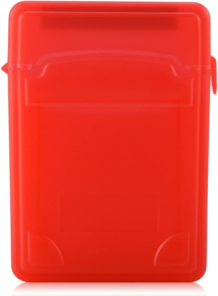 Woyisisi 2.5 Inch HDD//SSD Protective Shockproof Case Storage Box Anti-Static Label Enclosure red