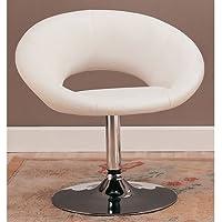 Coaster Swivel Chair-White