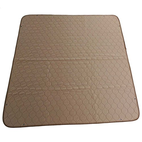 "EZwhelp 41""x41"" (with Grommets for Use with Bungees) Machine Washable, Reusable Pee Pad/Quilted, Fast Absorbing Dog Whelping Pad/Waterproof Puppy Training Pad/Housebreaking Absorption Pads"