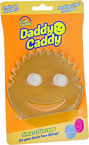 Heavy Duty Suction Machine (Daddy Caddy by the makers of The Original Scrub Daddy - Storage for your Smile Face Sponge!)