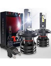 KATUR H4 9003 HB2 Bombillas para Faros Delanteros Hi/Lo Diseño Mini Chips CREE mejorados 12000 LM de conversión LED Todo en uno Impermeable a Prueba de Agua 55W 6500K Xenón Blanco-2 años de garantía