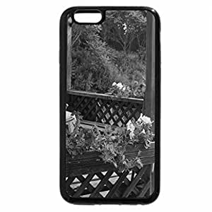 iPhone 6S Case, iPhone 6 Case (Black & White) - Gazebo and pond along the hiking trails