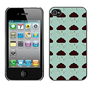 PatternViking PC Polycarbonate Aluminium Back Case Cover Apple iPhone 4 / 4S ( music note )
