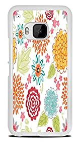Blooms Bursts Flower White Hardshell Case for HTC One M9