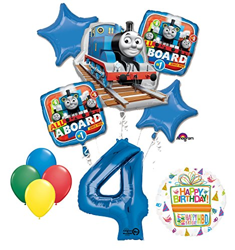 The Ultimate Thomas the Train Engine 4th Birthday Party Supplies and Balloon Decorations ()