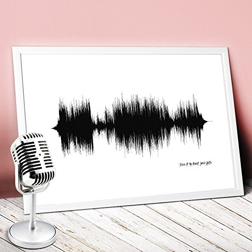 Print your favourite song,wall hanging,sound waves,sound wave art,soundwave,soundwave art,wave art decor,art print,wall decor,wave art N.01