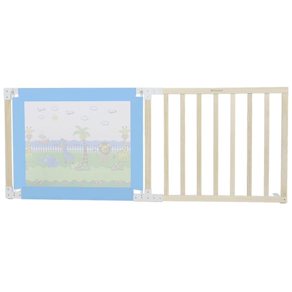 XIAOMEI 木製ベッドガードレールベビーセーフティ保護ベゼル、ハーフリフトドロップフェンス1.8m / 2m ベッドの手すり 1.8m 青 B07GFCBM74