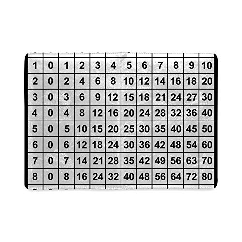 Mathematics Classroom Decor Utility Notebooks,Multiplication Table in Black and White Education Learning for Work,5.82