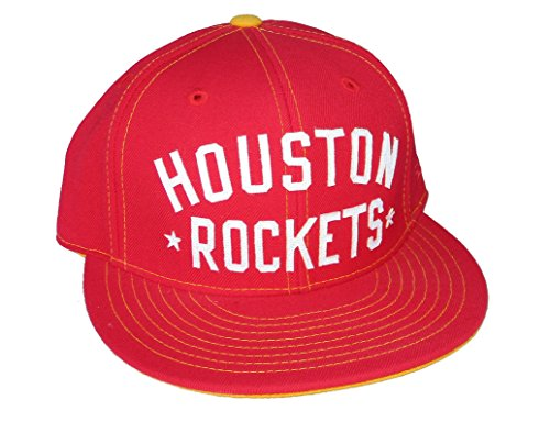 Houston Rockets GLOBETROTTER Fitted Size 7 7/8 Hardwood Classics Hat Cap - Red