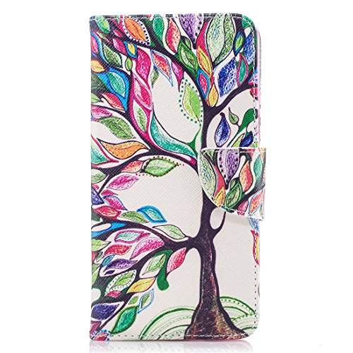 aérosol avec protection support peint fente OnePlus Flip 5 conception carte en étui d'impression portefeuille cas fermeture pour cuir magnétique Hozor de Colorful tree 5 PU en avec 1 18q4R4
