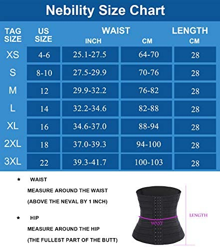 Nebility Women Waist Trainer Shapewear Tummy Control Waist Cincher Slim Body Shaper Workout Girdle Underbust Corset