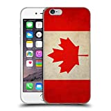 Head Case Designs Canada Canadian Vintage Flags Soft Gel Back Case Cover for Apple iPhone 6 4.7