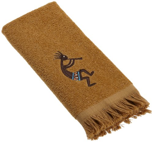 Avanti Linens Kokopelli Fingertip Towel, Nutmeg ()