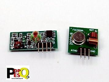 POPESQ® - 433 MHz Transmitter Receiver FS1000A Arduino Raspberry Pi