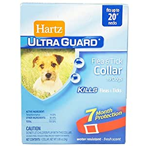 "HARTZ Ultraguard Flea & Tick Dog Collar 20"", Red 1 ea"